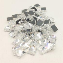 China LNRRABC New 100 piece lot Square Strass Stones Rhinestones Diamond Sewing Beads for Wedding Dress Nail Art Not Hot Fix D19010803 cheap nail bead wedding dress suppliers
