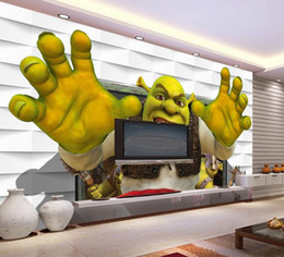 Photo backdroPs brick walls online shopping - Custom size d photo wallpaper mural living room bed room shrek brick wall d picture sofa TV backdrop wallpaper mural non woven sticker