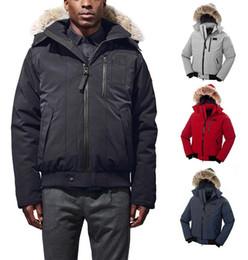 $enCountryForm.capitalKeyWord NZ - DHL Men WINTER Thick Warm Jacket Down & Parkas Big Real Wolf Fur Collar White Goose Down Outerwear Coats WITH FUR HOOD E21