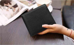 korean leather bags for men 2019 - 2019 New High Quality wallet with gift box short Wallets Card Holders for Men women purse Clutch Bags discount korean le
