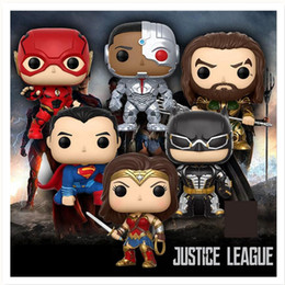 Figures Australia - Super Hero Justice League Batman Figure Aquaman Batman The Flash Wonder Woman Superman Cyborg Superman Toys Collection Action Figures Toys