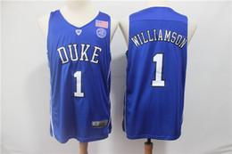 ea31160dba7 2019 Free Shipping top NCAA Basketball jersey 1 Zion Williamson 32  Christian Donald Laettner Duke Blue Devils College jerseys 100% Stitched