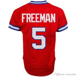 Discount alternate jerseys - Men's #5 Freddie Freeman Navy Alternate Cool Base Red Jersey