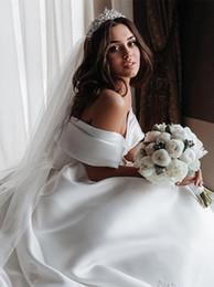 $enCountryForm.capitalKeyWord Australia - princess off the shoulders country wedding dress silk satin floor length backless plus size ball gown wedding dresses elegant women brides