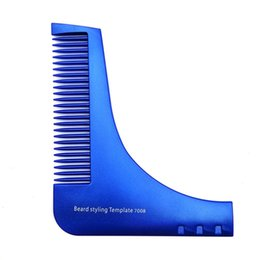 shaper hair UK - Professional fashion portable Beard Styling Shaping Template Comb Barber Tool Symmetry Trimming Shaper Stencil