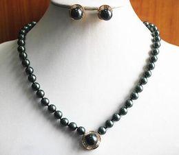 $enCountryForm.capitalKeyWord Australia - Wedding New Design 8mm White Pearl Necklace 14mm Earring Pendant Jewelry Set > GP Bridal brinco