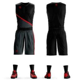 Venta al por mayor de 2019 personalizar Baloncesto Jersey Conjuntos Uniformes kits Niños Niños jóvenes Ropa deportiva Entrenamiento transpirable Camisetas de baloncesto Desig de baloncesto
