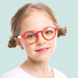 Silicone Blue Light Blocking Glasses for Kids Students Boys Girls Computer Protection TR90 Flexible Anti-blue ray Eyeglasses for Children on Sale