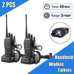 2PCS Baofeng BF-888S Walkie Talkie Two Way Radio 16CH 5W 400-470MHz Rádio Portátil Handheld Set 1500mAh para a caça Rádio Hot item em Promoção