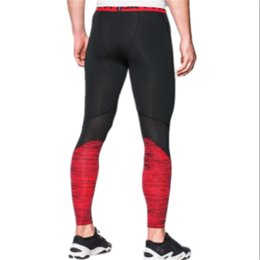 Solid Colored Leggings Australia - Men's U&A Compression Tight Leggings Under Base Layer Quick Dry Amor Stretch Pants Skinny Sports Workout Gym Trousers Tracksuit Pant C42401