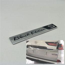 $enCountryForm.capitalKeyWord Australia - For Lexus LX570 Accessories 2008-2019 Car Rear Trunk Special Black Edition Kuro S Emblem Badge Logo Sticker