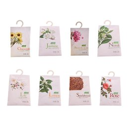 Scented Wardrobe Sachets Australia - 8 Taste Fresh Air Scented Fragrance Home Wardrobe Drawer Car Perfume Sachet Bag Aromatherapy package