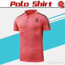 22f3d998a Shirts Real Madrid Polo 2019 Red Soccer Jersey 18 19 Real Madrid Soccer Polo  Football Uniforms Red Sport Shirt