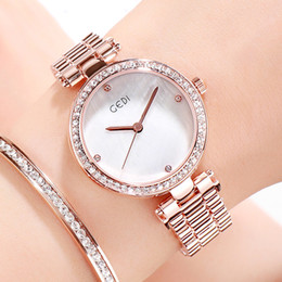 $enCountryForm.capitalKeyWord NZ - GEDI Exquisite Diamonds Ladies High-End Watches Casual Fashion Light Luxury Temperament Steel Belt Quartz Watch