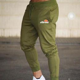 Mens Corredores Casual Calças de Fitness Sportswear Bottoms Skinny Sweatpants Calças Ginásio Preto Calças de Jogging Musculação Pista venda por atacado