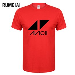 Discount mens clubbing clothes - mens designer clothes brand polo Avicii DJ Logo Summer T-shirt Men Cotton Print Fans Club Casual HipHop T Shirt Homme KP