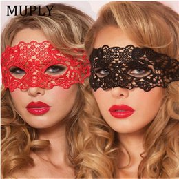 Sexy Babydoll Porn Lingerie Sexy Black White Red Hollow Lace Mask Erotic Costumes Women Sexy Lingerie Hot Cosplay Party Masks C19010801 from one piece ladies clothes manufacturers