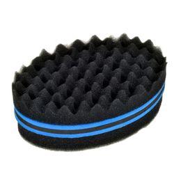 $enCountryForm.capitalKeyWord Australia - Oval Double Sides Magic twist hair brush sponge,Sponge Brush for Natural,afro coil wave dread sponge brushes Free Ship