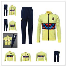 449c55ef6 19-20 Mexico club America jacket training suit 2019 -2020 GUERRON CALDERON  CASTILLO football Cougar UNAM Football jackets tracksuit set