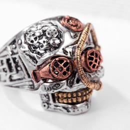$enCountryForm.capitalKeyWord Australia - Hip Hop Rings for Men Jewelry Cool Men's Gothic Carving Ring Stainless Steel Skull Ring