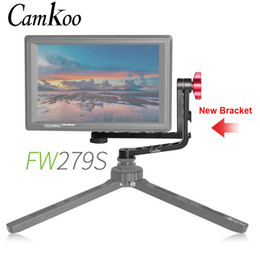 gimbal for dslr camera Australia - Camkoo New Dual L Shape Bracket Aluminum for Feelworld FW279S F5 FW568 FW279 F570 T7 DSLR Camera Field Monitor Stabilizer Gimbal
