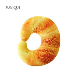 $enCountryForm.capitalKeyWord Australia - FUNIQUE Simulation Shrimp Croissant Chili Pepper Eggplant Shape U Type 3D Neck Pillow Cushion Nap Throw Pillow Stuffed Plush Toy