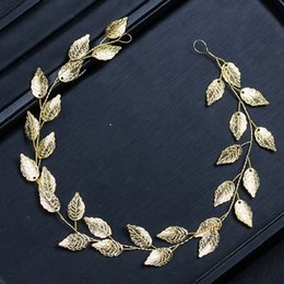 $enCountryForm.capitalKeyWord Australia - Cheap Jewelry KMVEXO Fashion Gold Silver Hairbands Bride Leaf Headbands Charm Tiaras Leaves Wedding Hair Accessories Women Hair Jewelry