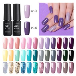 LILYCUTE 7ml gel Nail Polish semi permanente Long Lasting Soak Viola Blue Glitter Nail Off Gel UV Led polacco Art Design