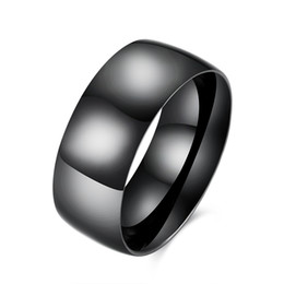 China Romantic Black Band Rings Black-plated Gun Ring Vintage Geometric Simple Generous Stylish Designed For Men's Men Fashion Original Prom Gift supplier indian rings designs suppliers