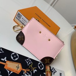Best Brand Leather Purses Australia - top quality best coin zipper purse women short chain tight wallet purse clutch purse key card holder with box men brand Genuine Leather