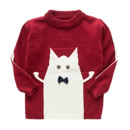 sleeves jersey Australia - Spring Baby Boy Sweater Toddler Long Sleeve Cartoon Knitted Sweter Fashion Children's O-neck Pullover Soft Warm Jersey Sweaters