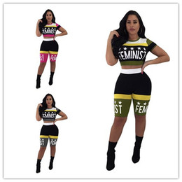 News Clothes Australia - Women Sexy Tracksuit 2019 Summer Stars Printing Expose Navel Short T-shirt+shorts Two Pieces Sportswear suit Nightclub Clothing News K8616