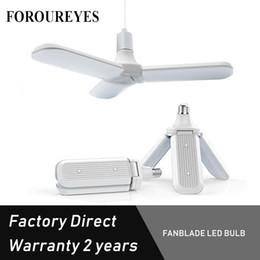 $enCountryForm.capitalKeyWord Australia - Free Sample 45w E27 LED Fan Blade Led Bulb 85V-265V No Flicker Angle Adjustable Ceiling Lamp Home Energy Saving Lights Free Shipping