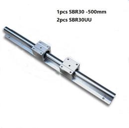 Linear Rail Cnc Australia - 1pcs SBR30-500mm support rail linear guide + 2pcs SBR30UU linear bearing blocks for cnc router