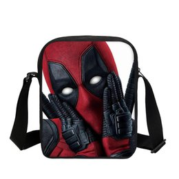 Small Crossbody School Bags For Boys Students Marvel Deadpool 2 Printed Shoulder  Bag Casual Messenger Bags 0c22070109eab