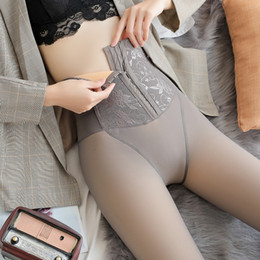 super sexy breast Canada - Women Warm Winter Sexy Leggings Women's Gray Velvet Leggings Winter High Waist Thick Super Elastic Pants Women Double-breasted MX200329