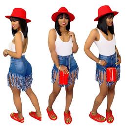 Wholesale womens jeans short size for sale - Group buy Summer Women Shorts Tassel Denim Shorts High Waist Womens Skinny Jeans Fashion Designer Zipper Fly Pocket Vintage Shorts Plus Size A52002