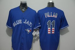 Discount jerseys throwbacks - Mens Blue Jays Throwback High quality knit Jersey Kevin Pillar Baseball Jerseys Color white gray blue black red green an