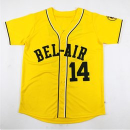 $enCountryForm.capitalKeyWord NZ - Men Will Smith Baseball Jersey #14 Bel-Air Academy Movie Baseball Jerseys Stitched Name Number Baseball Shirts Yellow S-3XL Free Shiipping