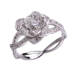 $enCountryForm.capitalKeyWord Australia - Vintage Rose Rhinestone Engagement Rings for Women Solitaire Rings Luxury Jewelry