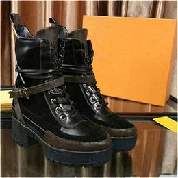 $enCountryForm.capitalKeyWord Australia - Overcloud Platform Desert Boot Diseñador Women Martin Boot Shoes Trainers Leather with Dust Bag 5cm Heel O43