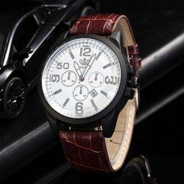 $enCountryForm.capitalKeyWord Australia - Men Fashion Leather Band Analog Quartz Round Wrist Watch Watches Luxury brands Representative of the fashion world Masculinity