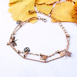$enCountryForm.capitalKeyWord Australia - 2019 Gold Bohemian Anklet Beach Foot Jewelry Leg Chain Butterfly Dragonfly Anklets For Women Barefoot Sandal Ankle Bracelet Feet Chain M043F