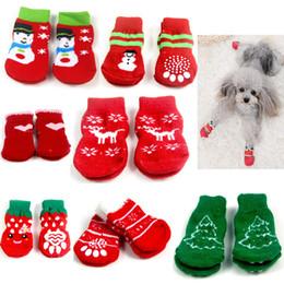 Extra small dog shoEs online shopping - Non Slip Christmas Theme Pet Socks  Knitting Material Keep 52542b0eea7b