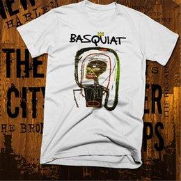 Опт Нью-Йорк граффити Футболка Абстрактные Баския Afro Brooklyn New Забавный дизайн Tee Shirt