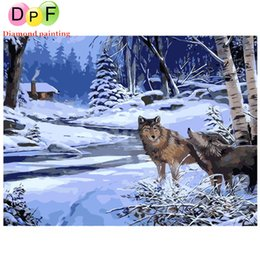 $enCountryForm.capitalKeyWord Australia - DPF Frameless The Wolf DIY Painting By Numbers Unique Gift Acrylic Paint By Numbers Hand Painted Wall Art Picture decor