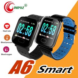 water resistant smart watches Australia - A6 Fitness Tracker Wristband Smart Watch Color Touch Screen Water Resistant Smart watch Phone with Heart Rate Monitor pk ID115