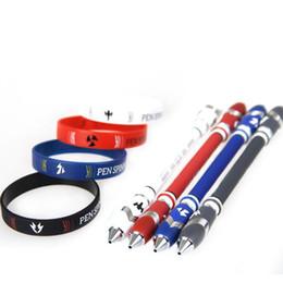 $enCountryForm.capitalKeyWord Australia - Spinning Pen 5098 V16 Spinning Ball Point pen with Bracelet