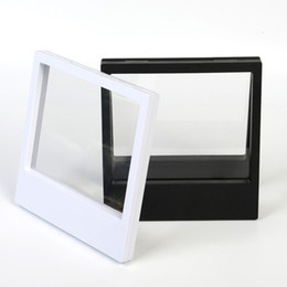 $enCountryForm.capitalKeyWord Canada - 180x230x20mm transparent PET Membrane box Holder Floating Display Case Earring Gems Ring Jewelry Suspension Packaging Box