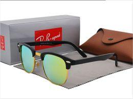 $enCountryForm.capitalKeyWord Australia - New polarized sunglasses for men women sun glasses brand designer Semi-Rimless frame uv400 protection polaroid lens with brown and box